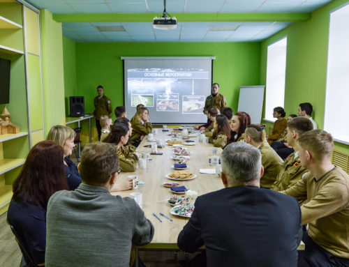 Традиционная встреча отрядов Северодвинска с Главой города